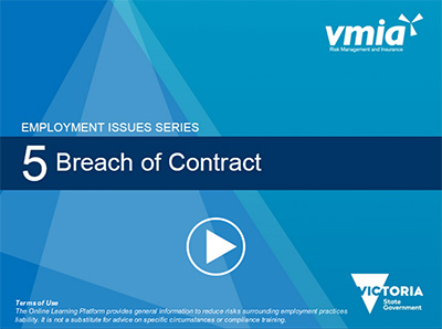Online Learning Breach of Contract Module
